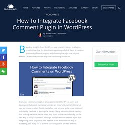 How to Integrate Facebook Comment Plugin in WordPress