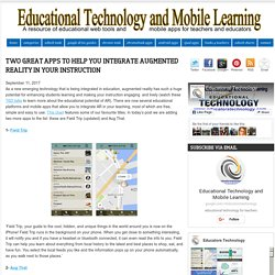 Educational Technology and Mobile Learning: Two Great Apps to Help You Integrate Augmented Reality in Your Instruction