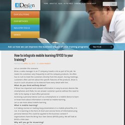 How to integrate mobile learning/BYOD to your training? - EI Design
