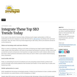 Integrate These Top SEO Trends Today