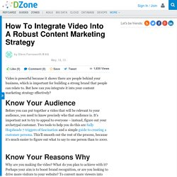 How To Integrate Video Into A Robust Content Marketing Strategy | DZone
