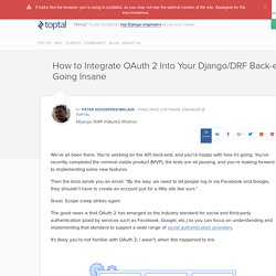 Integrate OAuth 2 Into Your Django/DRF Back-end