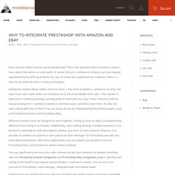 Why to integrate PrestaShop with Amazon and eBay