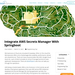 Integrate AWS Secrets Manager With Springboot