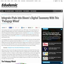 Integrate iPads Into Bloom's Digital Taxonomy With This 'Padagogy Wheel'