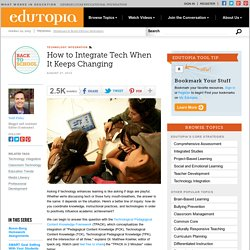 How to Integrate Tech When It Keeps Changing