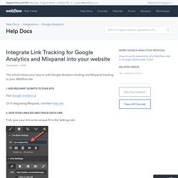 Integrate Link Tracking for Google Analytics and Mixpanel into your website - Webflow Help Center