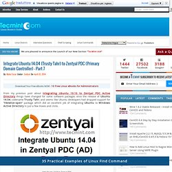 Integrate Ubuntu 14.04 (Trusty Tahr) to Zentyal PDC (Primary Domain Controller) - Part 7
