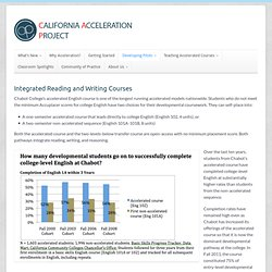 California Acceleration Project | Integrated Reading and Writing Courses