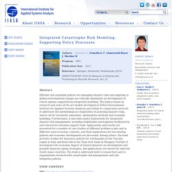 Integrated Catastrophe Risk Modeling: Supporting Policy Processes