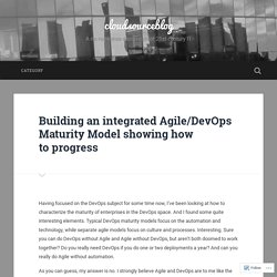 Building an integrated Agile/DevOps Maturity Model showing how to progress – cloudsourceblog