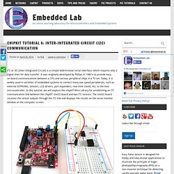 chipKIT Tutorial 6: Inter-Integrated Circuit (I2C) communication