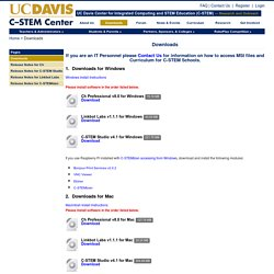 UC Davis Center for Integrated Computing and STEM Education » Downloads