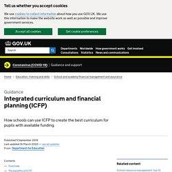 Integrated curriculum and financial planning (ICFP)