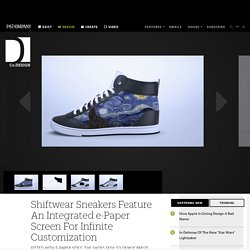 Shiftwear Sneakers Feature An Integrated e-Paper Screen For Infinite Customization
