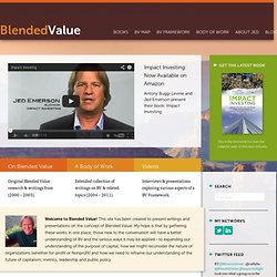 Blended Value