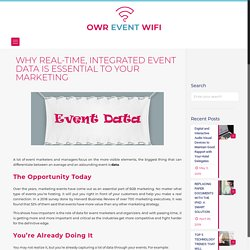 WHY REAL-TIME, INTEGRATED EVENT DATA IS ESSENTIAL TO YOUR MARKETING