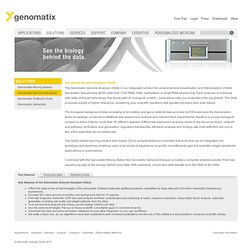 Genomatix Genome Analyzer - Genomatix