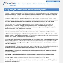 Fully Integrated Build and Release Management : CrossVista