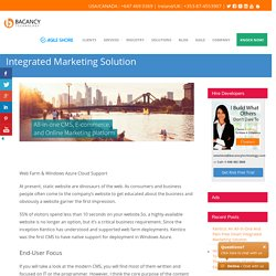Kentico: An All-In-One Smart Integrated Marketing Solution