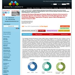Integrated Workplace Management System Market by Solution & Service - 2021