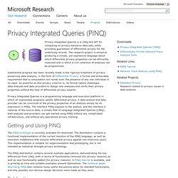 Privacy Integrated Queries (PINQ)