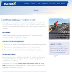 Smartroof's solar tiles with integrated photovoltaic elements