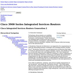 Cisco Integrated Services Routers Generation 2