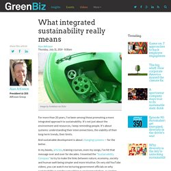 What integrated sustainability really means
