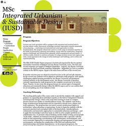 MSc Integrated Urbanism & Sustainable Design (IUSD)
