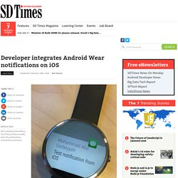 Developer integrates Android Wear notifications on iOS