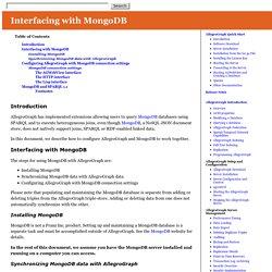 Integrating AllegroGraph with MongoDB