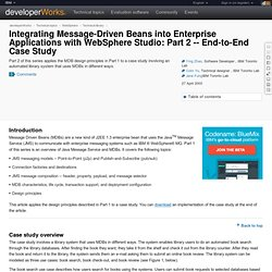 Integrating Message-Driven Beans into Enterprise Applications with WebSphere Studio: Part 2 -- End-to-End Case Study
