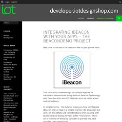 Integrating iBeacon With Your Apps – The BeaconDemo Project