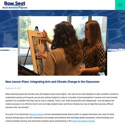 New Lesson Plans: Integrating Arts and Climate Change in the Classroom