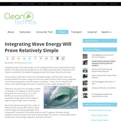 Integrating Wave Energy Will Prove Relatively Simple