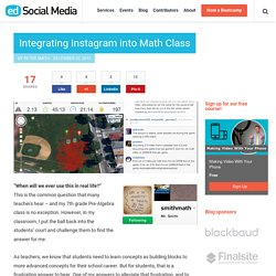 Integrating Instagram into Math Class