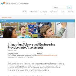 Integrating Science and Engineering Practices into Assessments
