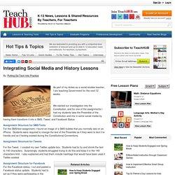Integrating Social Media and History Lessons