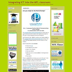 Integrating ICT into the MFL classroom:
