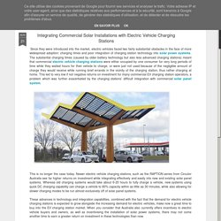 Integrating Commercial Solar Installations with Electric Vehicle Charging Stations