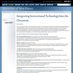 University of New Haven : Integrating Instructional Technology Into the Classroom