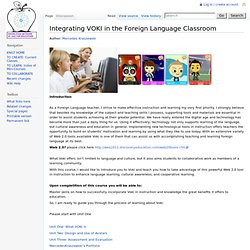 Integrating VOKI in the Foreign Language Classroom - KNILT