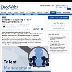 Benefits of Integrating a Talent Management System