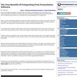 The True Benefits Of Integrating Prezi Presentation Software