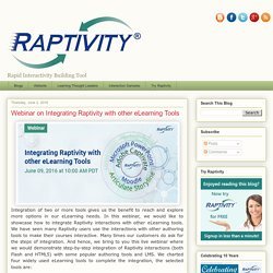 Webinar on Integrating Raptivity with other eLearning Tools