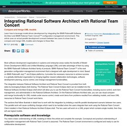 Integrating Rational Software Architect with Rational Team Concert
