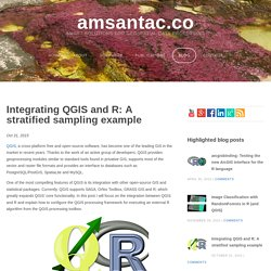 Integrating QGIS and R: A stratified sampling example