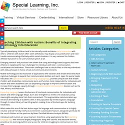 Teaching Children with Autism: Benefits of Integrating Technology