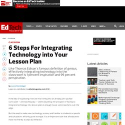 6 Steps For Integrating Technology into Your Lesson Plan